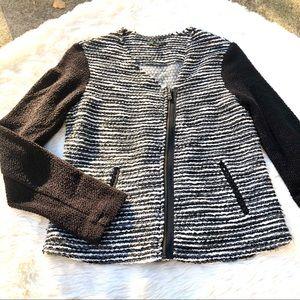 Drew Herringbone Asymmetrical Sweater
